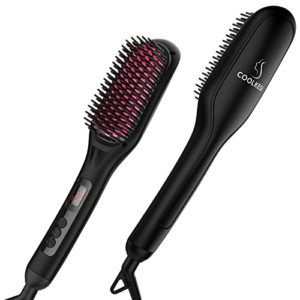 Coolkesi Hair Straightening Brush with Anti Scald Feature