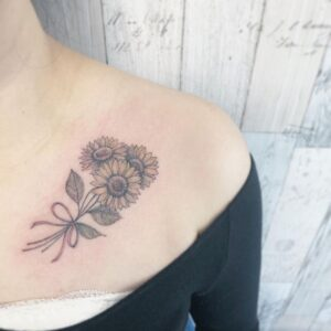 awesome-sunflower-tattoo-ideas-by-MIIINK-TOKYO